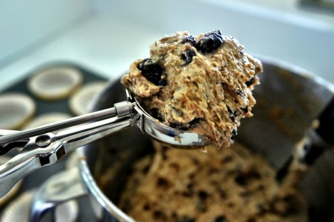 Blackberry Bran Muffin Batter