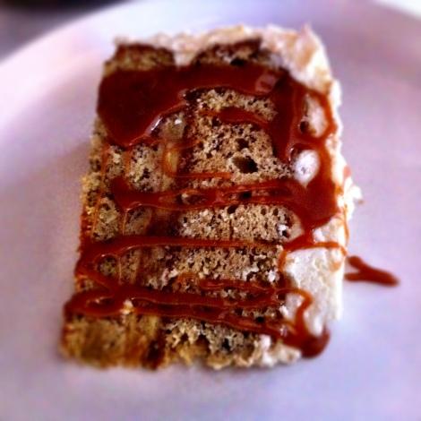 Slice of Banana-Caramel Cake