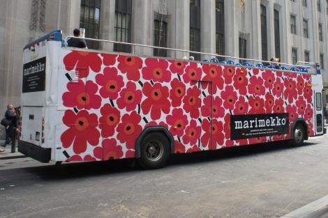 Marimekko wrapped bus