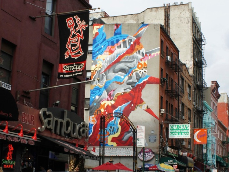 Little Italy wall