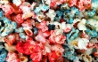 Fourth of July red, white and blue popcorn
